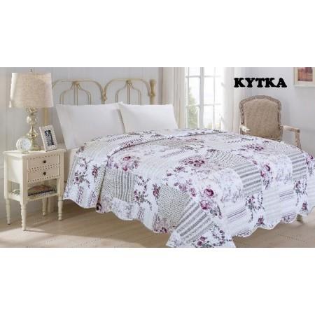 Přehoz na postel dvojlůžko flower- květiny, 220x240cm