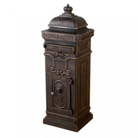 Ozdobná poštovní schránka v historickém designu, hliníková