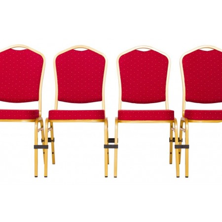Plastová spona pro spojení více konferenčních židlí
