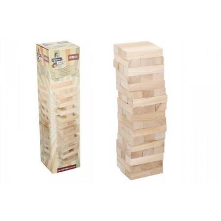 Stolní hra Jenga věž- dřevěné kostičky 60 ks