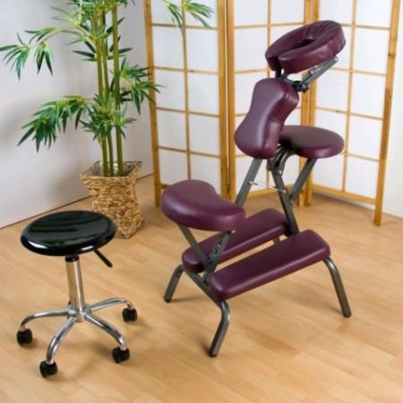 Skládací masážní židle, výškově nastavitelná