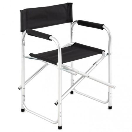 Skládací židle pro režiséra přenosná, černá, do 110 kg