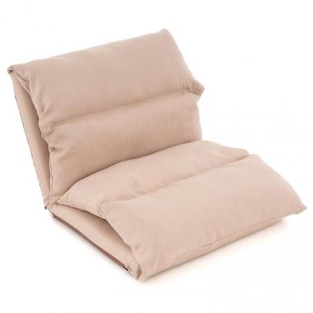 Skládací přenosný gauč / lehátko pro hosty, khaki, 225x65 cm