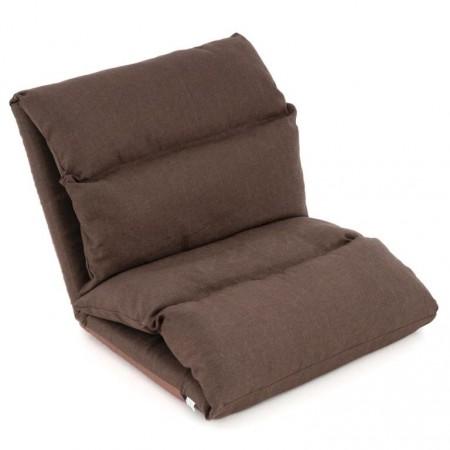 Skládací přenosný gauč / lehátko pro hosty, hnědá, 225x65 cm