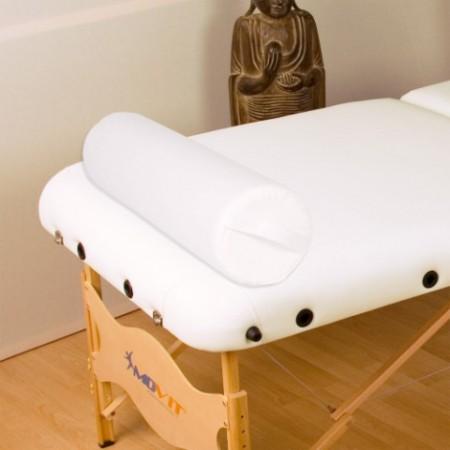 Kožený bílý polštář pro masážní stůl