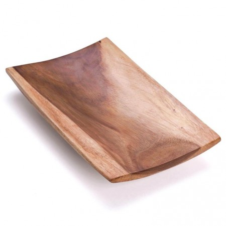 Designová dřevěná mísa do bytu, 46x28 cm