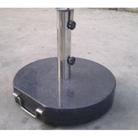 Masivní kruhový stojan na slunečník, leštěný mramor, 40 kg