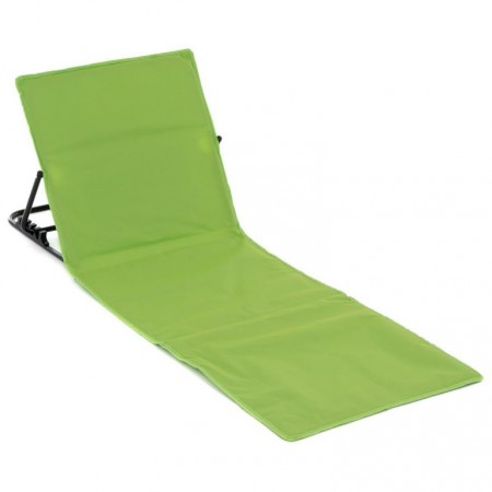 Plážové lehátko s nastavitelnou zádovou opěrkou, zelené, 166x58 cm