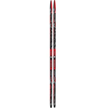 Běžky SKOL se šupinami, 205 cm, červená / černá / šedá