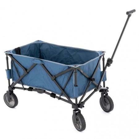 Vozík do dílny kovový skládací, textilní korba, objem 135 L