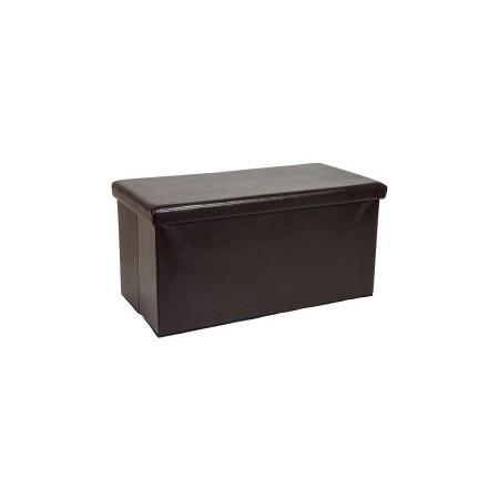 Skládací posltrovaná lavice s úložným prostorem, hnědá