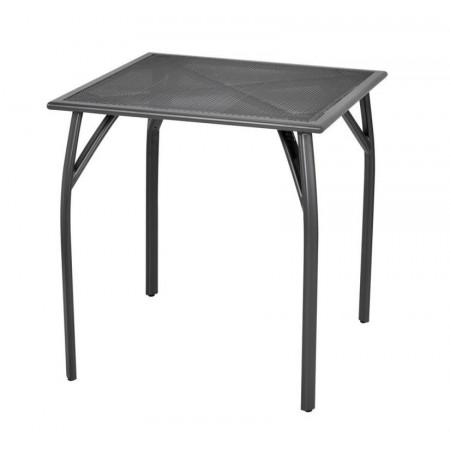Zahradní kovový stůl čtvercový drátěný (tahokov), 70x70 cm