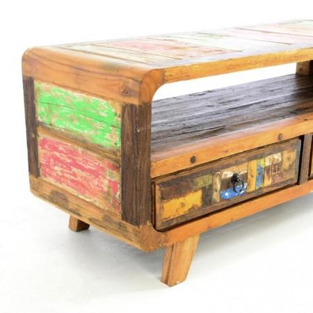 Dekorativní skříňka do bytu- recyklované dřevo z lodí, 100x42x45 cm
