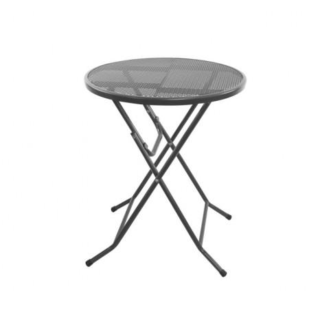 Kulatý stůl na balkon / terasu kovový (tahokov), skládací, průměr 60 cm