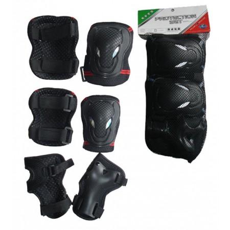 Chrániče na kolečkové brusle chráničů kolen, loktů, zápěstí, vel. M