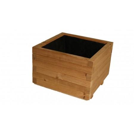 Luxusní dřevěný květináč thermowood venkovní / vnitřní, 37x37x31 cm