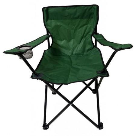 Skládací kempinkové křesílko textilní, tmavě zelené