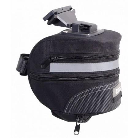 Taška na kolo pod sedlo- odpojovací klip, 10x13x17 cm, reflexní pruh