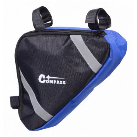 Taška na kolo do rámu modrá / černá, 18x27x5 cm