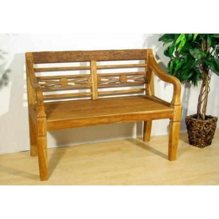Okrasná dřevěná venkovní lavice z teakového dřeva