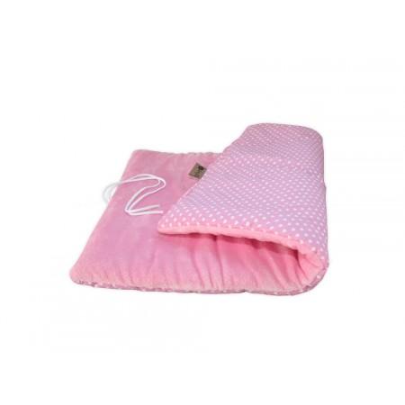 Deka pro psy měkká polstrovaná, růžová + srdíčka, obdélník 70x50 cm