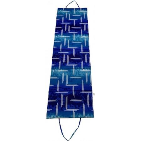 Lehátko k vodě skládací do tvaru tašky, s uchy, modré, 195x55 cm