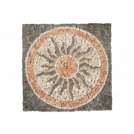 Obklad - mozaika na síťce, motiv slunce, 120x120 cm