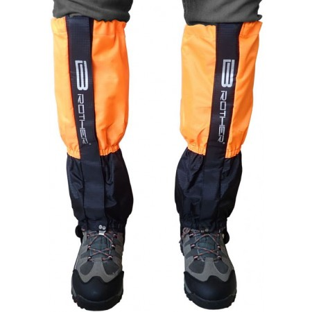 Návleky turistické voděodolné pánské, černá / oranžová, výška 47 cm