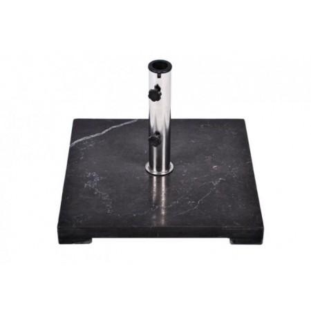 Elegantní čtvercový stojan na slunečník do 3 m, černý leštěný mramor