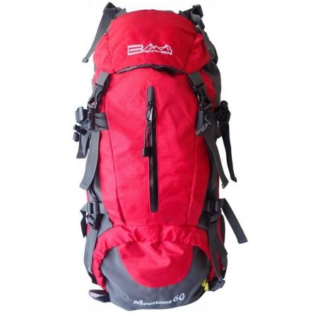 Horský batoh 60 L, červený