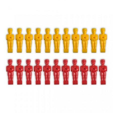 Plastové figurky pro stolní fotbal, 22 ks, pro 15,9 mm tyč