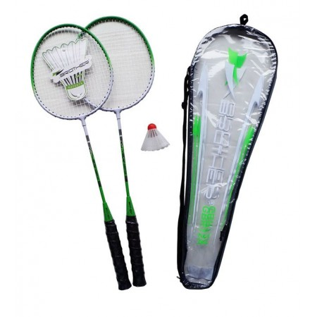 Sada na badminton- 2x pálka, 1x košíček, 1x pouzdro