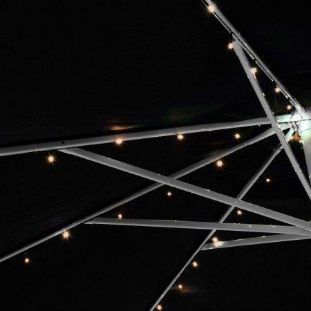 Osvětlení pod slunečník solární- řetěz svítící / blikající, 8 větví