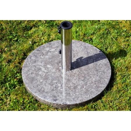 Kulatý stojan pro slunečnáky do 3 m, leštěný mramor, 25 kg
