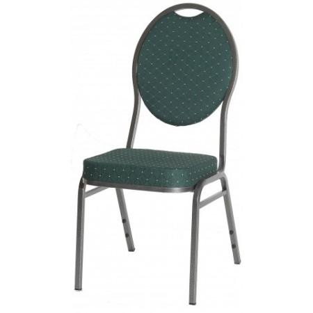 Kovová stohovatelná židle Monza - zelená