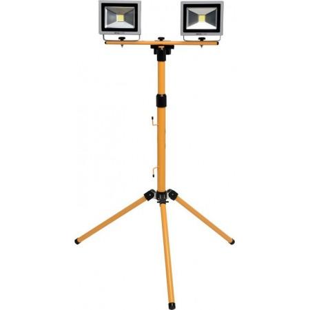 Reflektory se stojanem- profi osvětlení na stavbu / do dílny, LED, 2x20 W