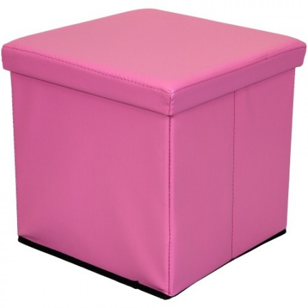 Skládací polstrovaný taburet, růžová