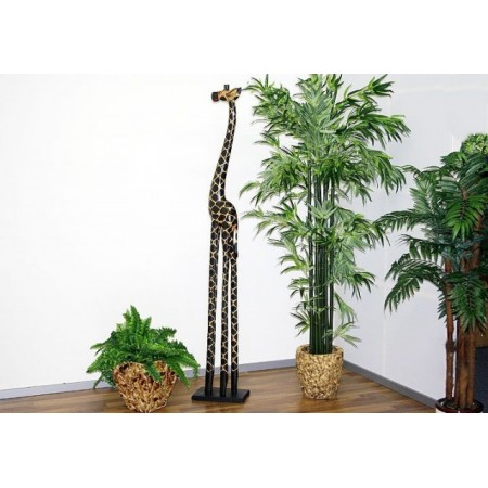 Ozdobná figurka žirafy ručně vyřezávaná, 180 cm