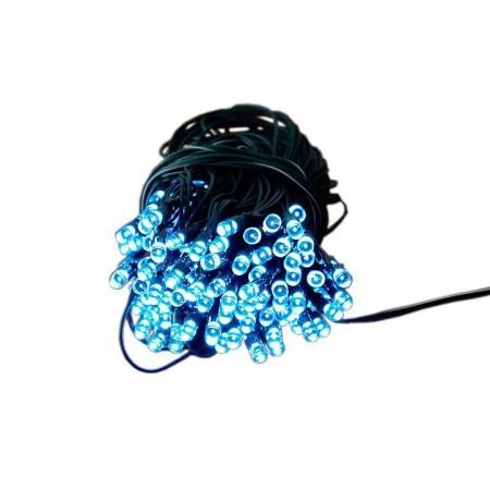 Venkovní solární řetěz 100 LED diod, studeně bílá, 9,9 m