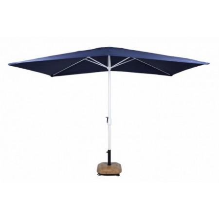 Obdélníkový slunečník s klikou 2x3 m, modrý