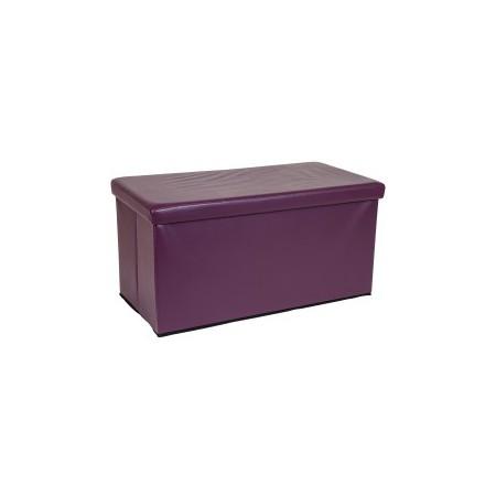 Polstrovaná skládací lavice, skládací, fialová