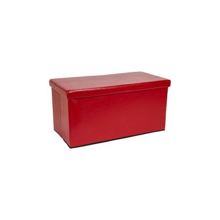 Polstrovaná lavice s víkem, úložný prostor, tmavě červená