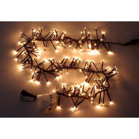 Vánoční světelný řetěz venkovní / vnitřní, teple bílý, 1 m