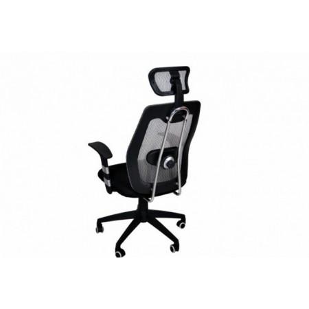 Kancelářská židle na kolečkách s loketními opěrkami a opěrkou hlavy