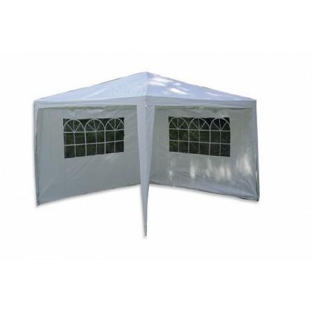 Zahradní párty stan - bílý 3 x 3 m + 2 boční stěny