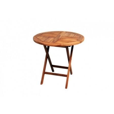 Kulatý zahradní stolek z teakového dřeva, 75 cm