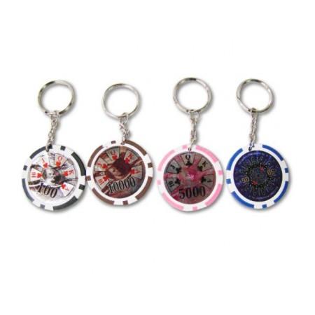 Přívěsky na klíče z pokerových žetonů- 48 ks