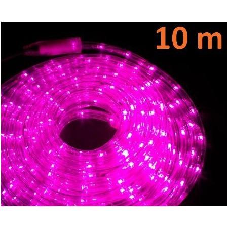 Venkovní světelný kabel růžový, 10 m, 240 LED diod
