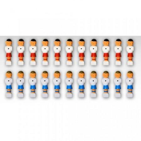 Sada 22 figurek pro stolní fotbal, pro tyče 15,9 mm