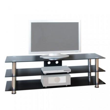 Elegantní TV stolek se skleněnými policemi, bezpečnostní sklo